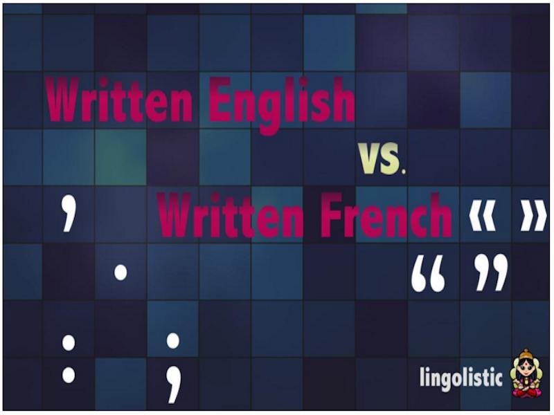 Written English Vs Written French A Comparison Italki